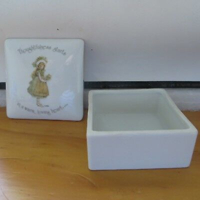 Holly Hobbie Square Trinket Box Thoughtfulness Starts In A Warm Loving Way