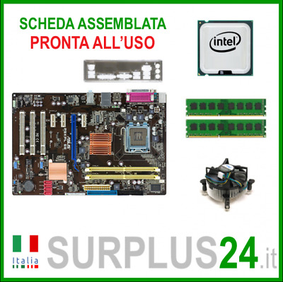 ASUS P5KPL SE + Core™2 Quad Q6600 + 4GB RAM | Kit Scheda Madre 775 I/O #1389