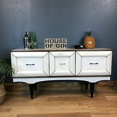 Kitch Retro 1960s Sideboard Cocktail Cabinet Credenza Rare Stonehill Mid Century