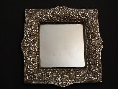 Antique Tiffany & Co 925 Sterling Silver Repousse Jewelry Tray Dish Rare