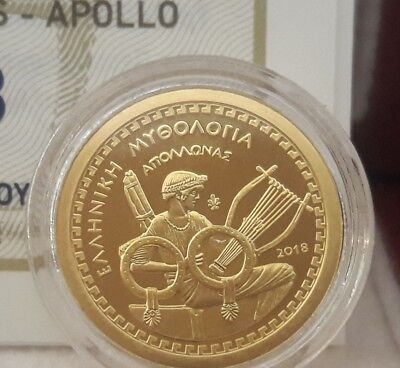 Best price 🅰 RARE Gold Proof 🅰 Greece 100 Euro 2018 God APOLLO 🅰 GRECIA GRECE