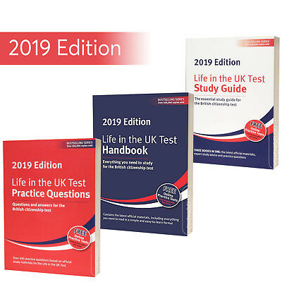 British Citizenship Test - Life in the UK 2019 -Newest Full Book Set Collection