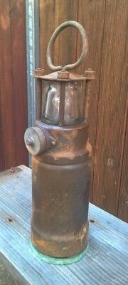 Antique Oldham Lantern Admiralty - Navy Nautical Ship Lamp Miners Light