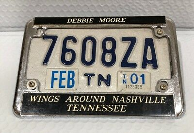 Tennessee TN Motorcycle License Plate With Frame