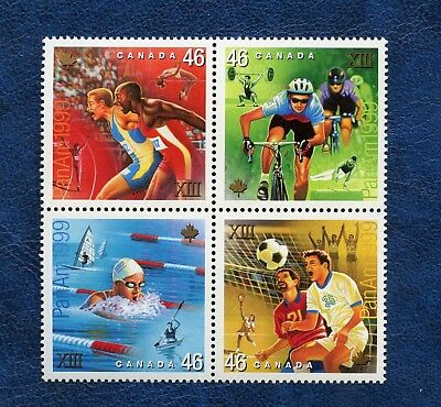 Canada Sc#  1801-1804 Pan American Games Block, Mnh Very Fine Stamps