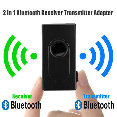 Wireless Bluetooth 3.5mm Audio Transmitter Receiver Multipoint Music Adapter fdg