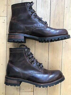 6ee774d790b3d FRYE ADDISON LUG Lace Up Waterproof Work Boots