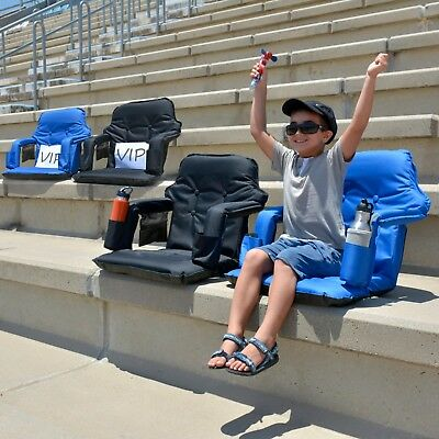 New Standard Portable & Foldable Stadium Chair For Bleachers & Free Carry Bag