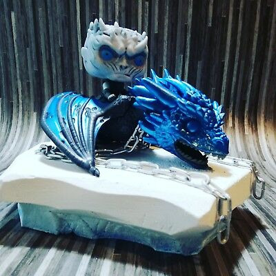 Game of thrones pops. Icey viserion metallic blue with night King on icey sheet!