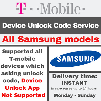 T-Mobile USA PREMIUM UNLOCK CODE SERVICE FOR Samsung All models Supported