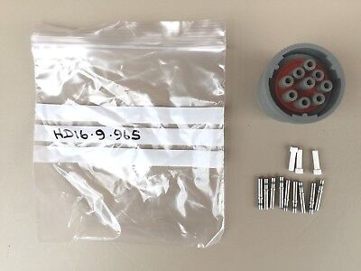Deutsch HD16-9-96S connector kit complete with solid contacts and wire bungs.