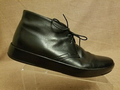 967a6bd14829 Prada Men High Top Shoes Black Chukka Lace Up Leather Ankle Boots Size 9