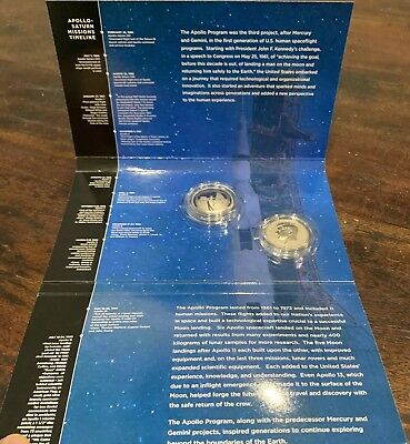 2019 Apollo 11 50Th Anniversary Two 2 Coin Half Dollar Set W  Enhanced Kennedy