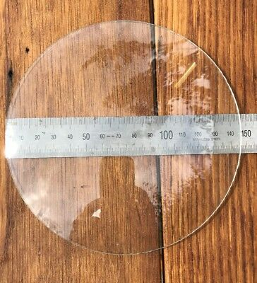 Domed clock dial glass, diameter 147mm, dome approx. 20mm