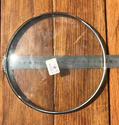 Domed clock dial glass, diameter 182mm, dome approx. 20mm