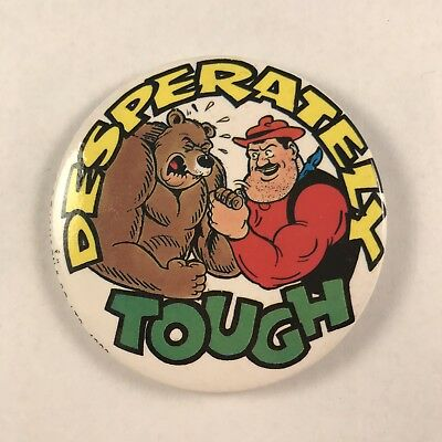 Desperate Dan The Dandy Comic Character Pin Badge - Desperately Tough