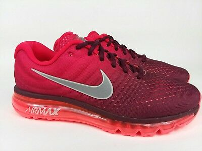 official photos 7c8e9 619eb Men s Nike Air Max 2017 Night Maroon Gym Red Running Shoes 849559 601 Sz 10  NEW