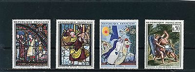 FRANCE 1963 Sc#1054-1055,1076-1077 ART/PAINTINGS SET OF 4 STAMPS MNH