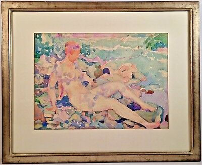 Listed Artist Otto Wyler (1887-1965) Signed & Dated Watercolor Painting c. 1921
