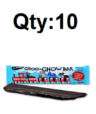 Lagoon Choo Choo Chewy Lollies Bars 10 pcs 20g (Original Licorice) Party buffet