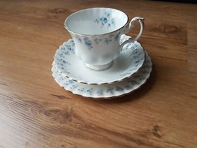 Royal Albert Memory Lane Tea Cup and Two Saucers