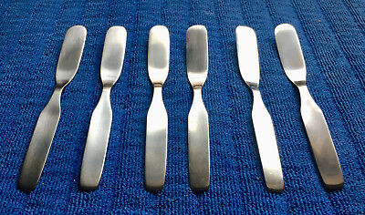 WMF CROMARGAN STAINLESS FORM Set of 6 Vintage BUTTER