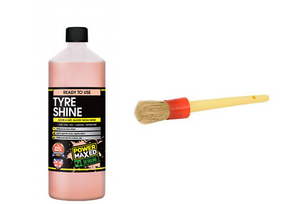 Power Maxed Tyre Dressing & Rennovator 1 Litre + Free Tyre dressing Brush