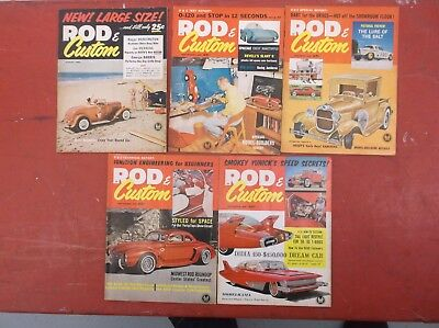 Lot Of 5 Vintage Rod & Custom Magazines From 1961 George Barris And Joe Henning
