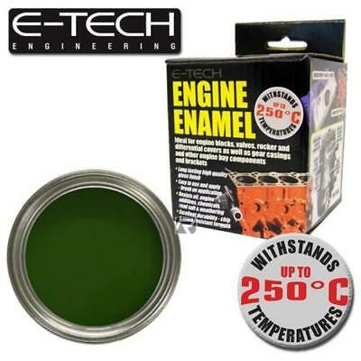 E-Tech BR Green  Engine Enamel High Heat Paint 250°C Engine Blocks etc - 250ml