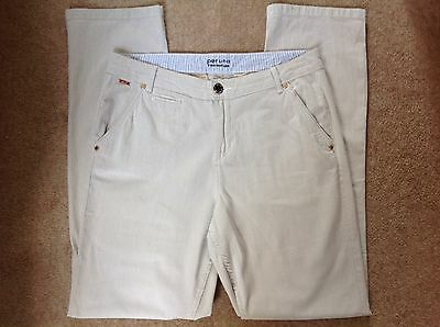 a039e8f0ab3 Marks And Spencer Per Una Straight Leg Trousers Natural Size 10 Short Brand  New