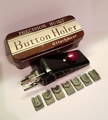Button Holer Attachment, Very Rare Excellent Working Order