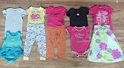 032fc961b Huge Lot Toddler Girls Spring/Summer Clothing Outfits Carters Sz 24 Mos 2T