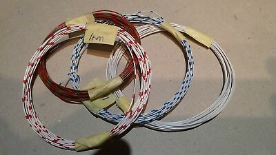 Solid Wire. Red/Green, White/Blue, White/Red, & White (4m of each)
