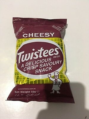 Twistees Cheesy Crisp Baked Snack rice based GLUTEN FREE 50grms MALTA