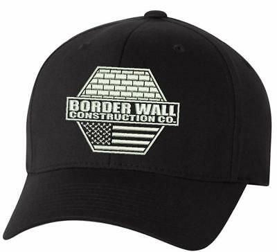Donald Trump Border Wall Construction Company Flex Fit hat with MAGA on back