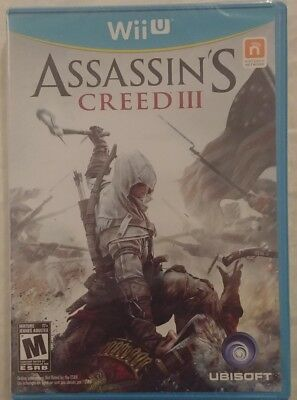 ASSASSIN'S CREED (3) III NINTENDO WII-U, Brand New Factory Sealed