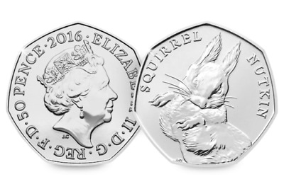 2016 Beatrix Potter Coins - Squirrel Nutkin 50p Fifty Pence Uncirculated