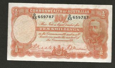 1936 Ten Shillings - Riddle/sheehan - George V -  Fine Condition