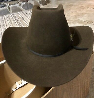9a74f4d4af5b8 STETSON 3X BEAVER Cowboy Hat John B Stetson Light Brown 7 3 8 (with ...