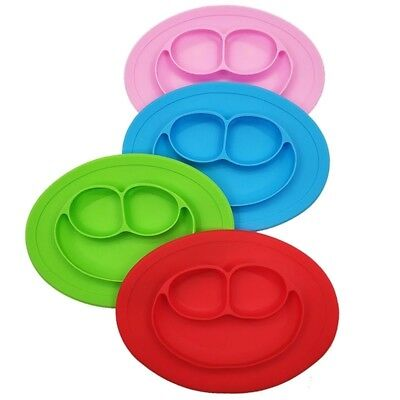 Baby Silicone Dining Plates Fruit Tray Feeding Spoon Food Grade Lunch Tableware