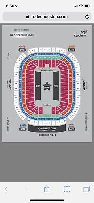 3 Old Dominion Tics at Rodeo Houston, Mar 4, Section 128, Row N & Parking