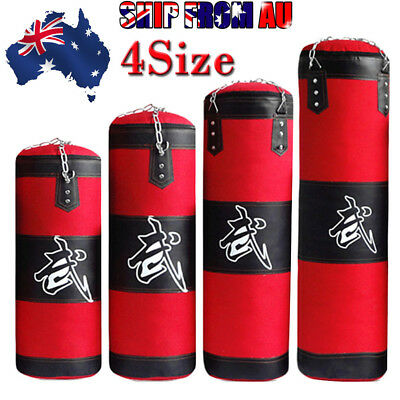 Punching Sandbag Training Martial Heavy MMA Chain Duty Boxing Bag Arts Kicking O