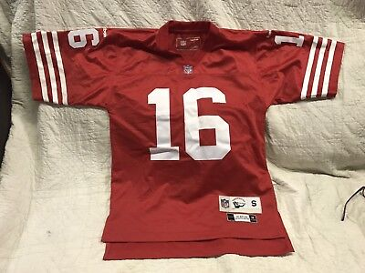fb0a919a7 San Francisco 49ers Joe Montana Throwbacks Football Jersey NFL Small  Stitched 16