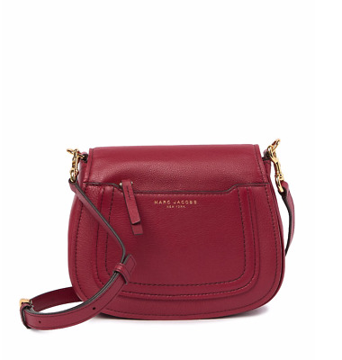 7c38ec316655  325 Marc Jacobs Empire City Mini Messenger Leather Crossbody Bag Wine Red