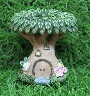 Fairy Garden Tree with Flowers and window Figurine ~ ornament