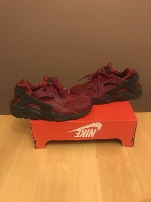 Nike Huarache Run (GS) Size 6Y (Women's 7.5) Noble Red/Anthracite Rare Fly Max