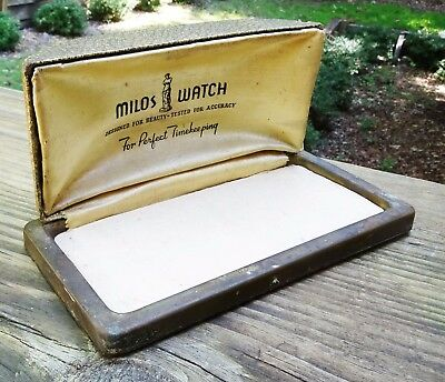 RARE ART DECO 1930s MILOS WATCH CASE - DESIGNED FOR BEAUTY TESTED FOR ACCURACY