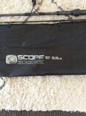 Kevin Nash Scope Black Ops 10' 3.5lb Test Carp Rods