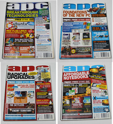 Australian Personal Computer (APC) Magazine (4 Issues from 2007) + 1 Cover DVD