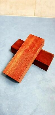 STABLISED RED GUM KNIFE BLOCKS -  Red Gum Knife Handle Scales x 2